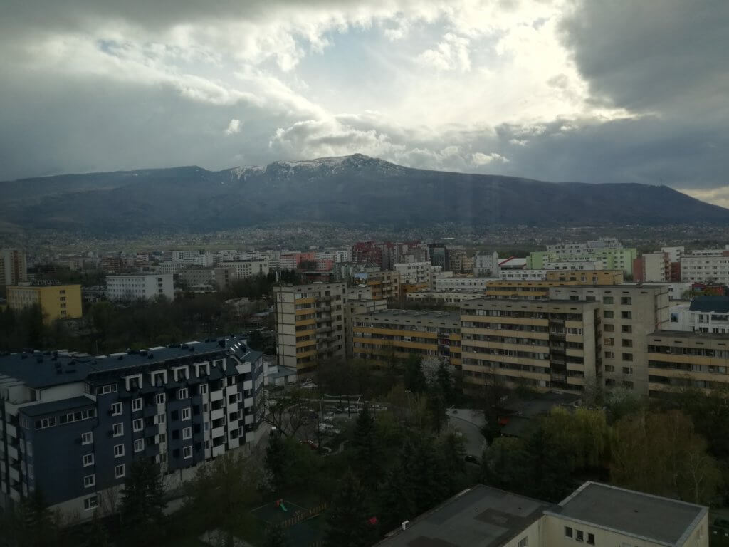 View from Zest Restaurant to Vitosha Mountain - Suite Hotel Sofia