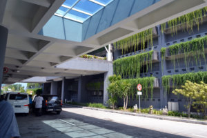 Very green parking building at DPS airport