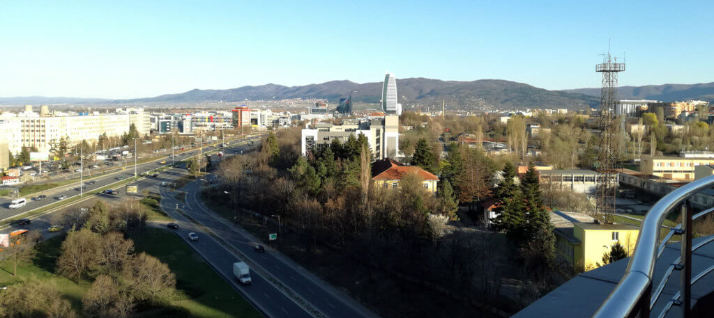 Panorama over the east side of the Tsarigradsko Shosse Office Area - View from Sofia Metropolitan Hotel 10th floor