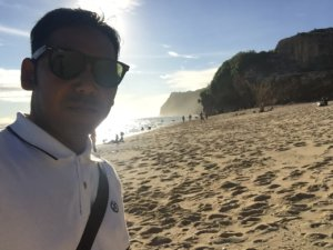 Nyoman at Bali beach