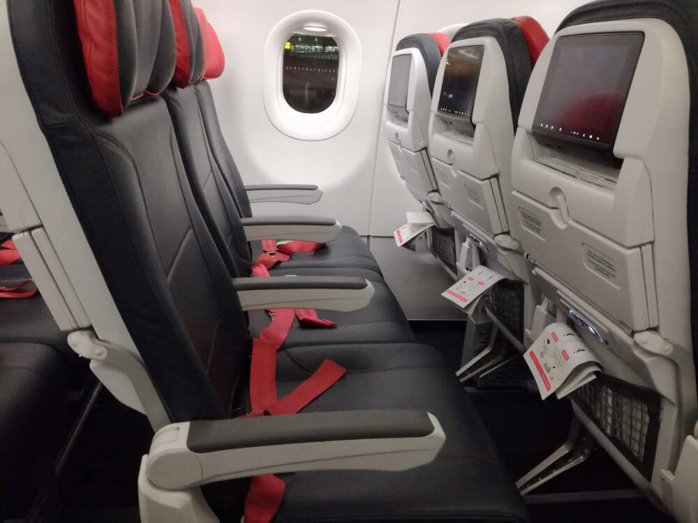 Turkish Airlines economy class Airbus A321 seats