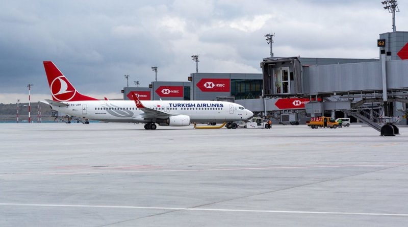 Turkish Airlines Boeing 737 at Istanbul New Airport